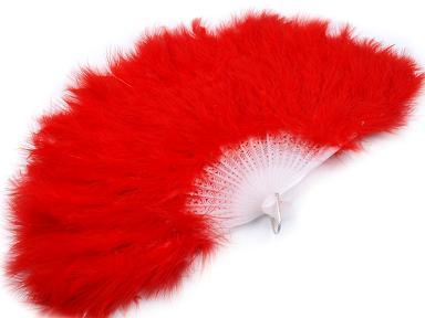 Vějíř velký červený