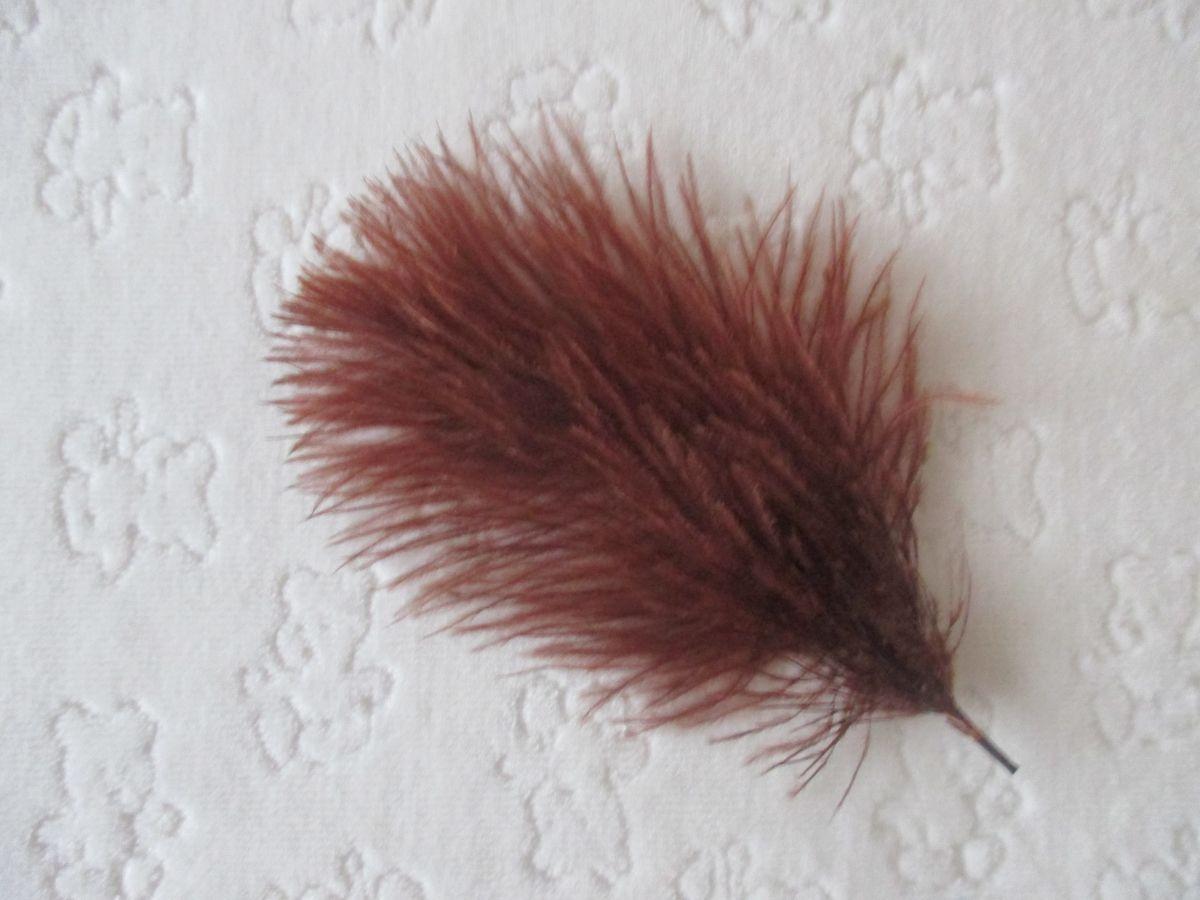 Pštrosí peří hnědé 5 - 12 cm