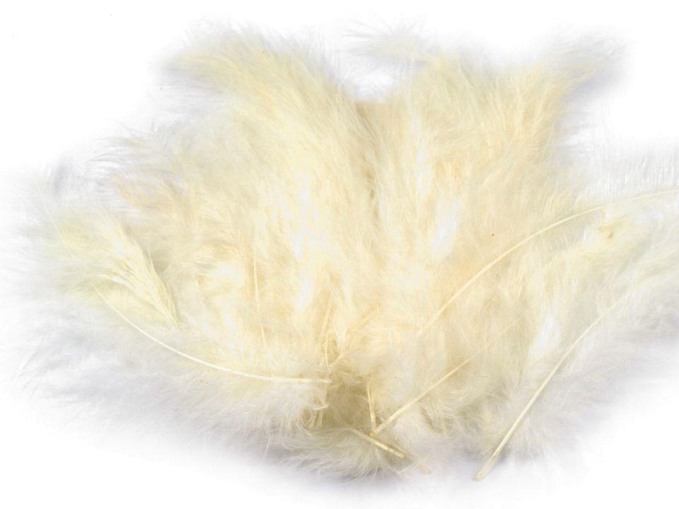 Peří marabu smetanové 12 - 17 cm