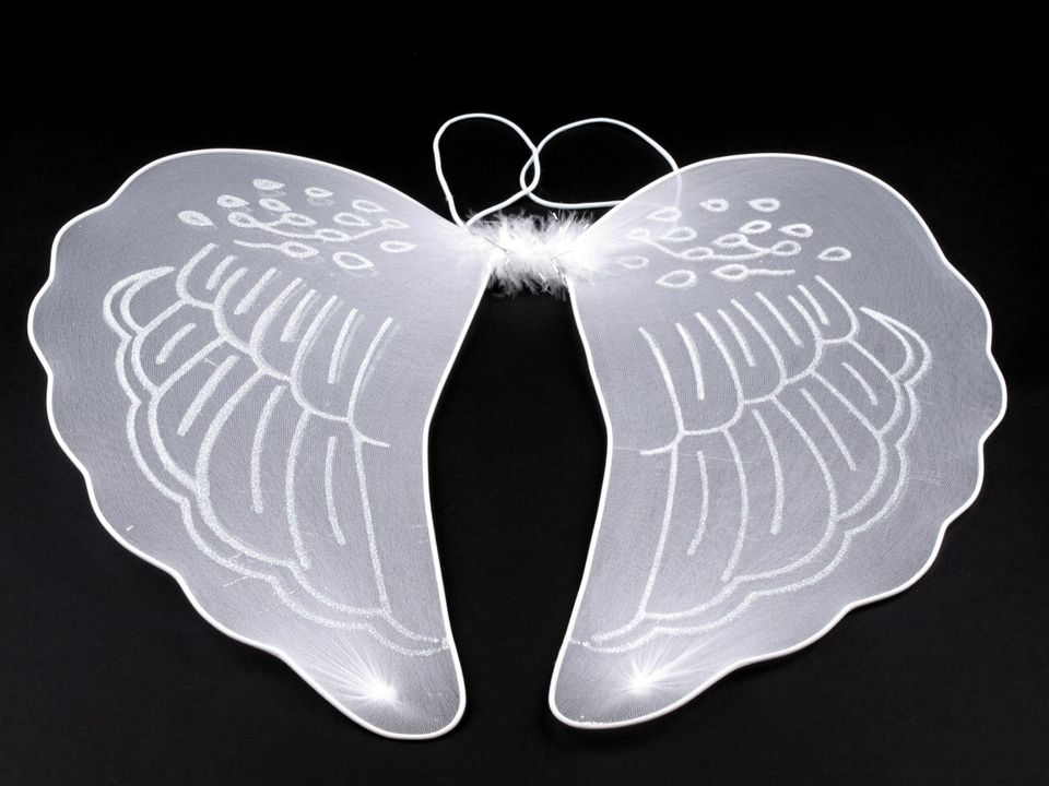 Andělská křídla s glitry 40 x 40 cm
