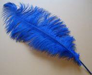 Pštrosí peří tmavě modré 50 - 55 cm