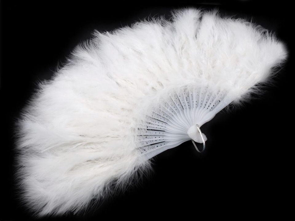 Vějíř velký bílý