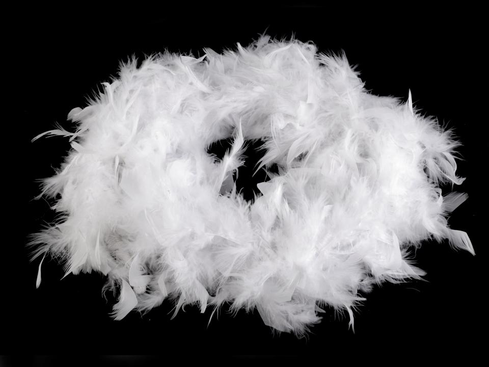 Boa bílé - krůtí peří 60g