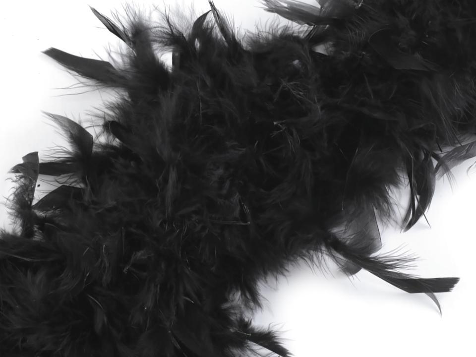 Boa černé - krůtí peří 60g