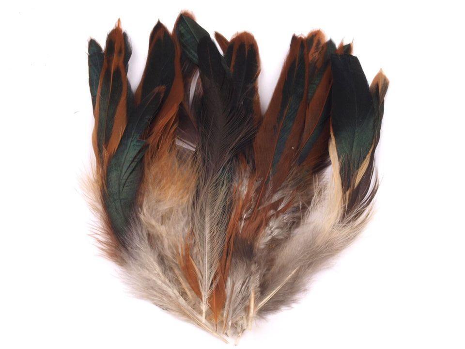 Slepičí peří přírodní 6 - 15 cm
