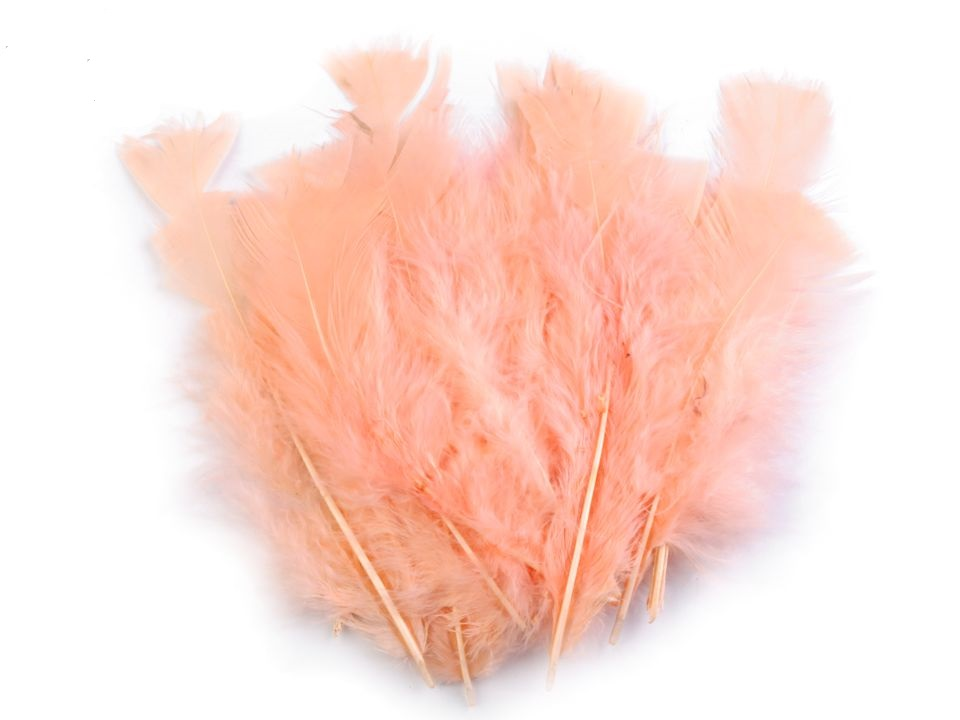 Krůtí peří lososové 11 - 17 cm