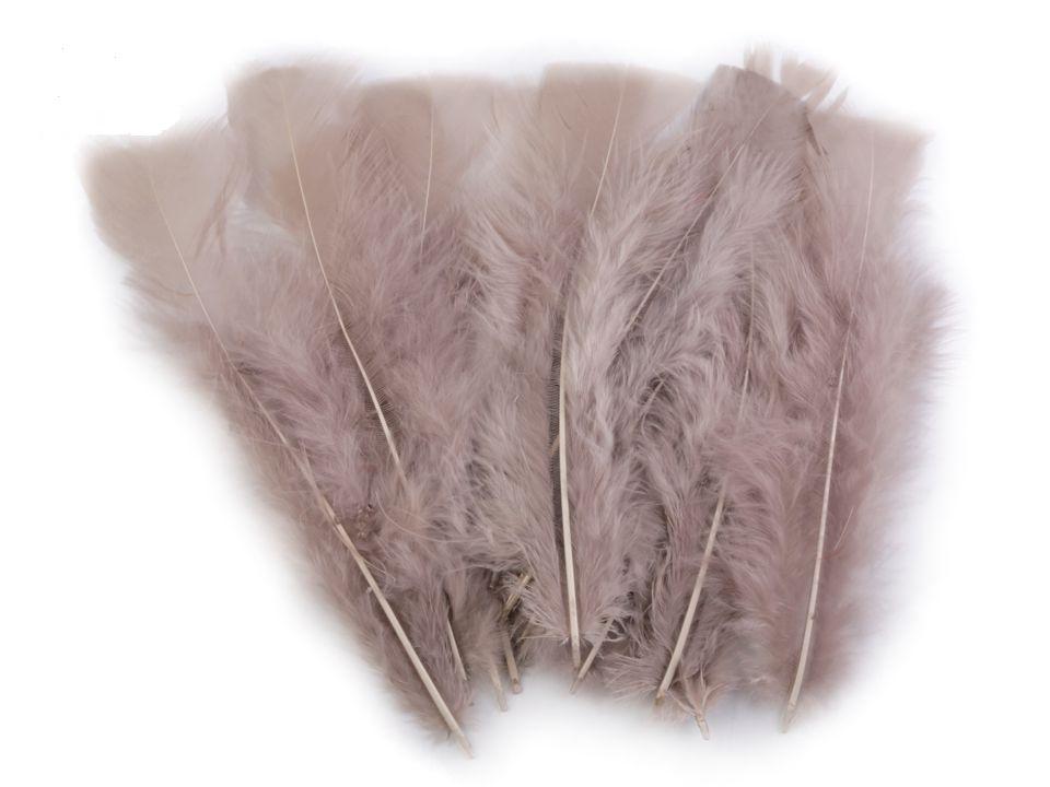 Krůtí peří šedobéžové 11 - 17 cm