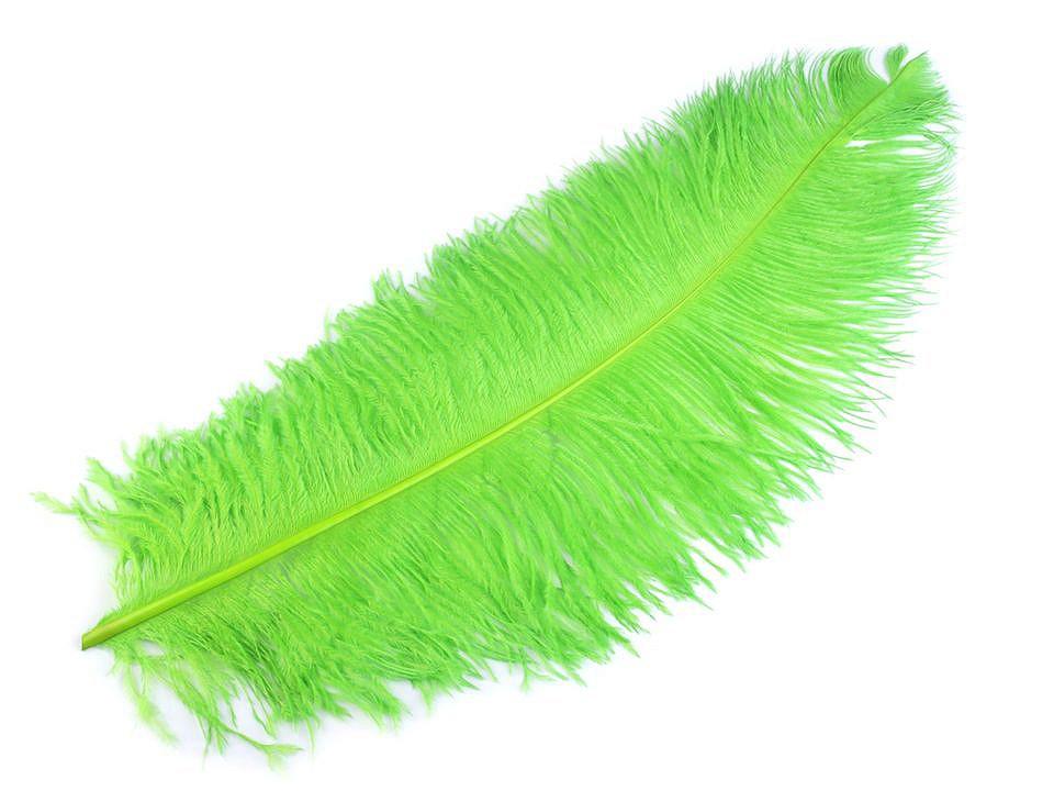 Pštrosí peří zelené 55 - 60 cm