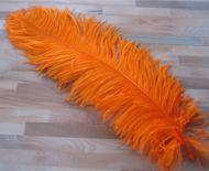 Pštrosí peří oranžové 70 - 75 cm