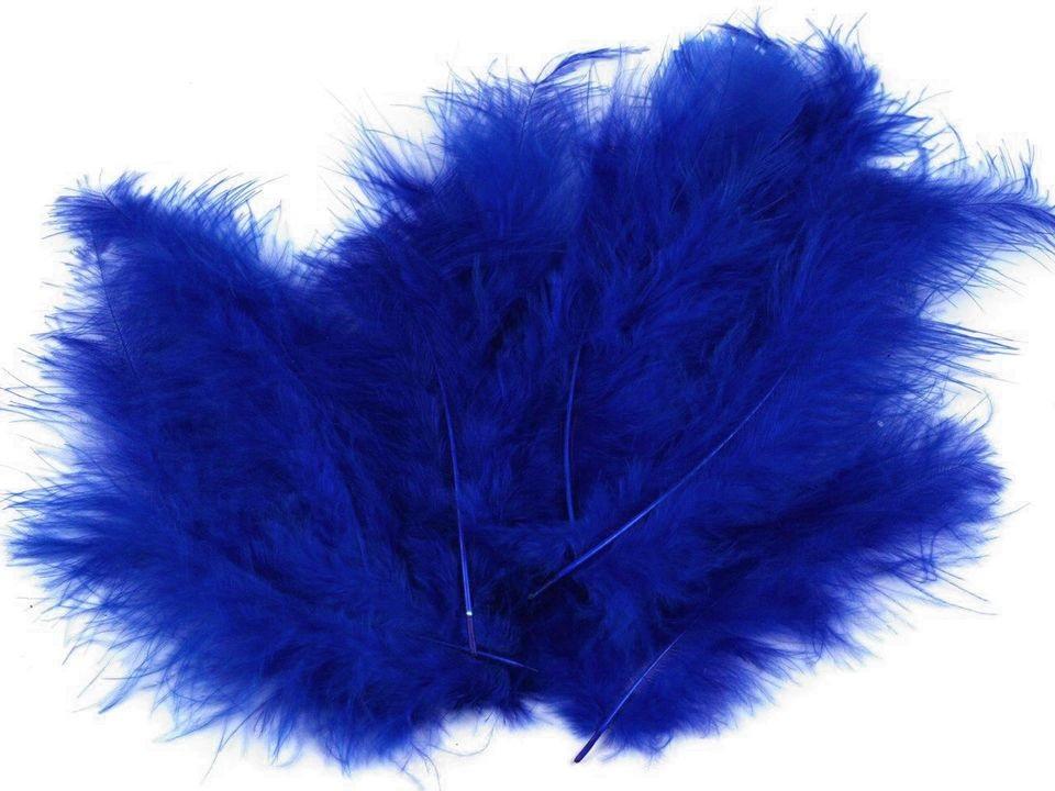 Peří marabu tmavě modré 12 - 17 cm