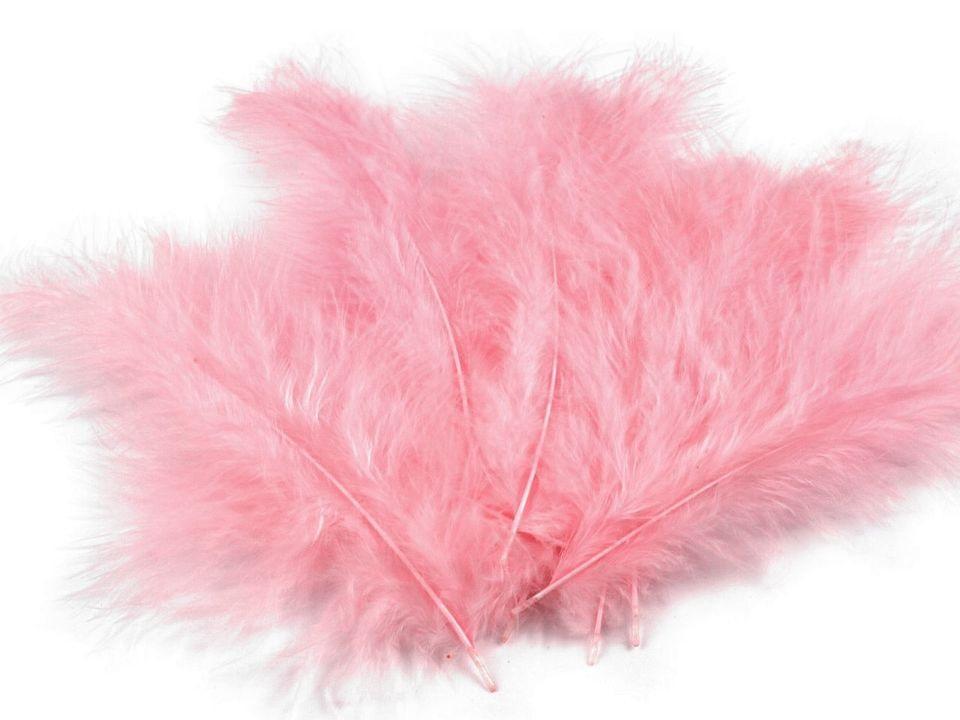 Peří marabu růžové 12 - 17 cm