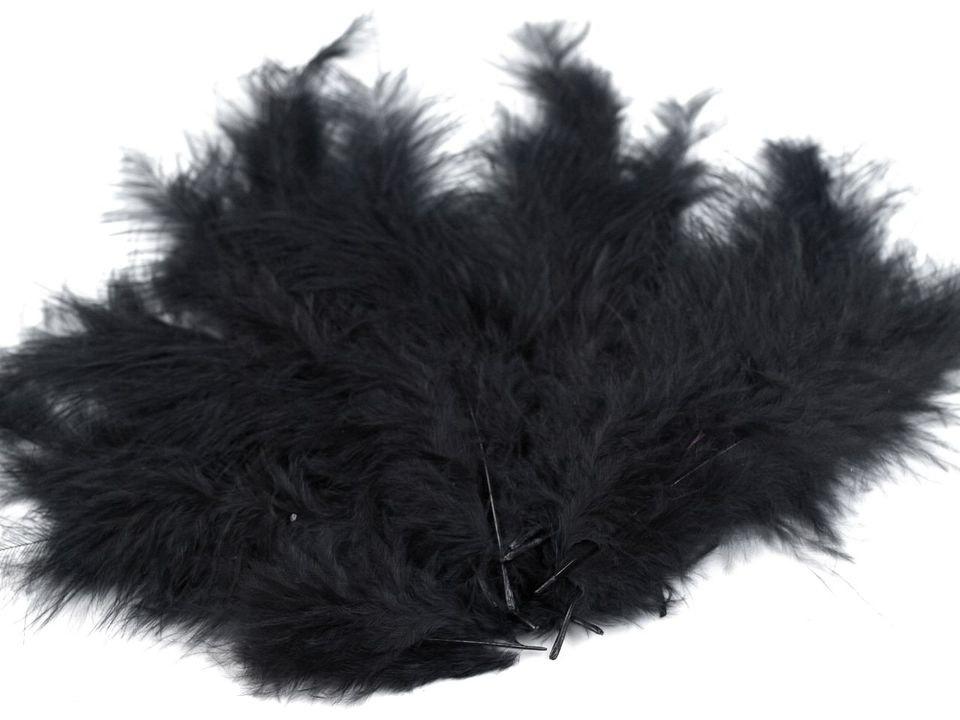 Peří marabu černé 12 - 17 cm