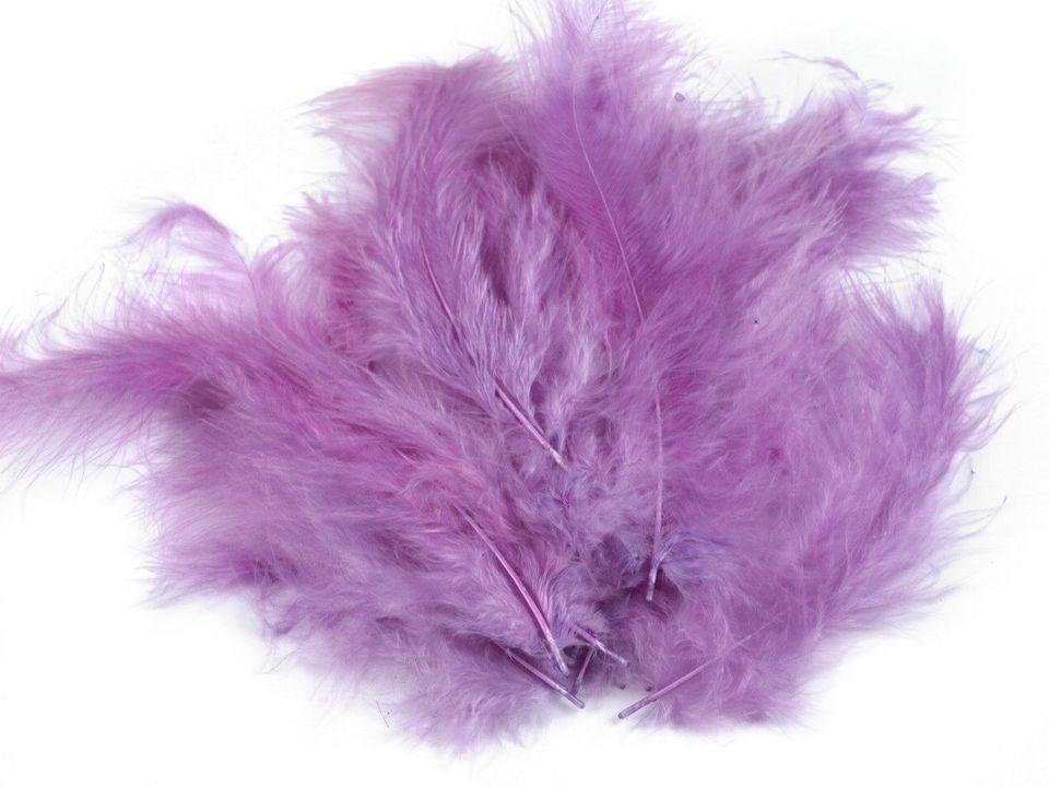 Peří marabu fialové 12 - 17 cm