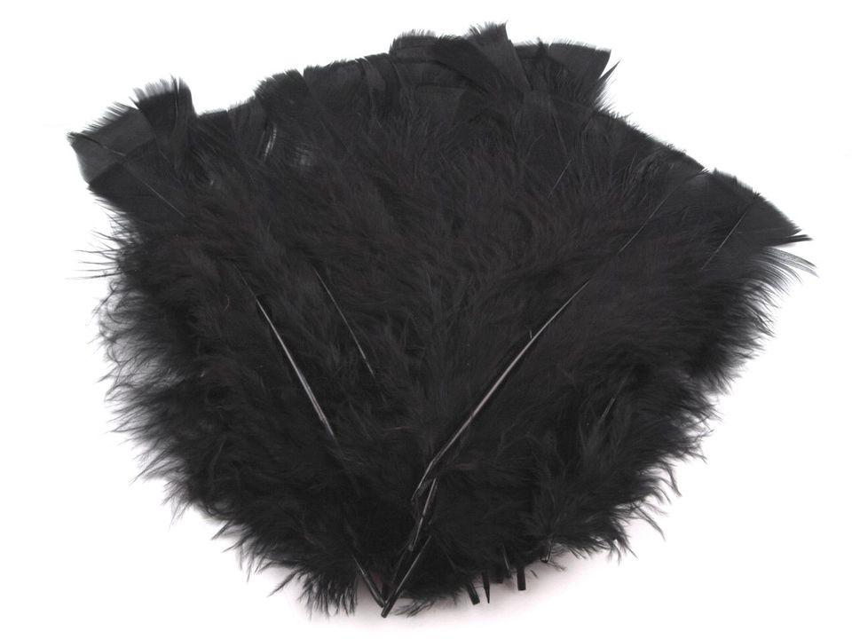 Krůtí peří černé 11-17 cm