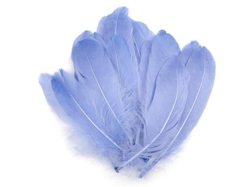 Husí peří světle modré 16-21 cm