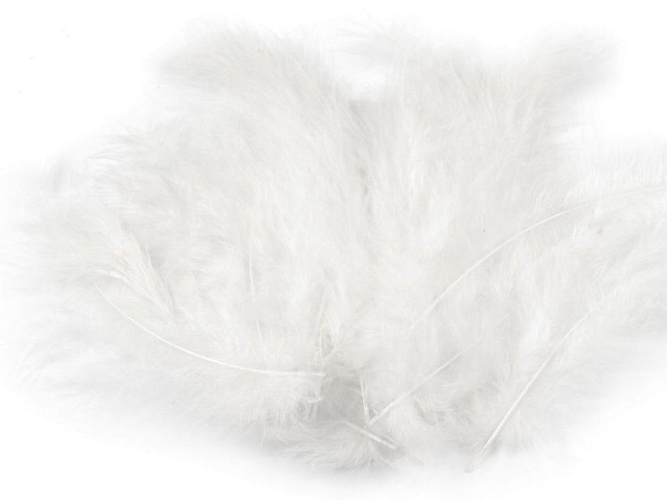 Peří marabu bílé 12 - 17 cm