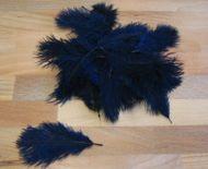 Pštrosí peří námořnická modrá 5 - 12 cm