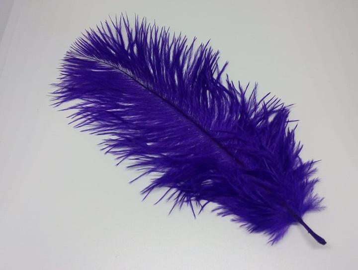 Pštrosí peří fialové 12 - 20 cm
