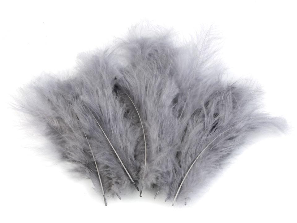 Peří marabu šedé 12 - 17 cm