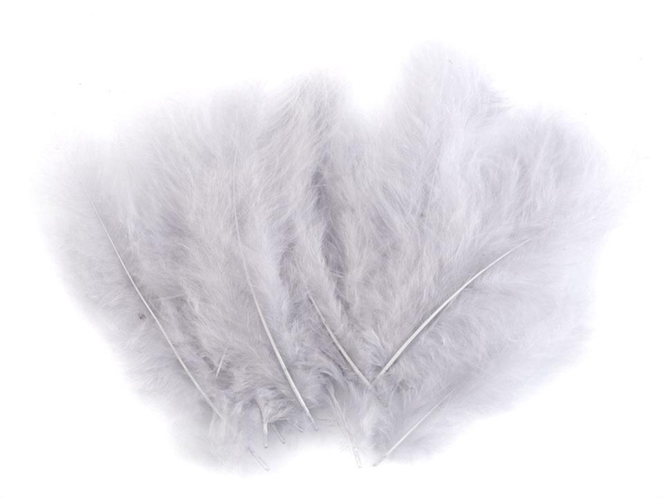 Peří marabu světle šedé 12 - 17 cm
