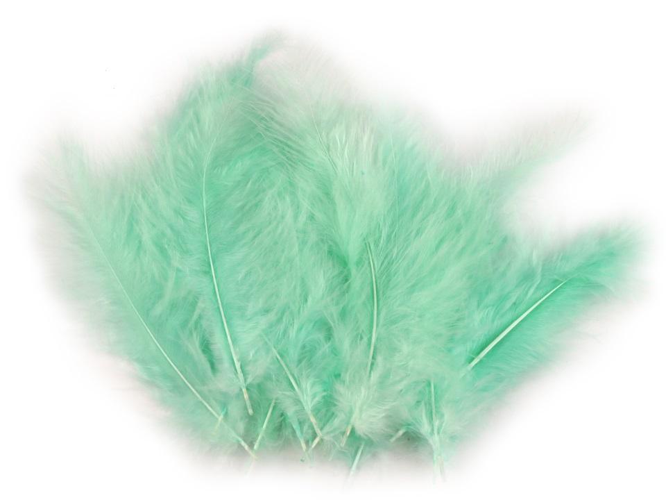 Peří marabu pistáciová 12 - 17 cm