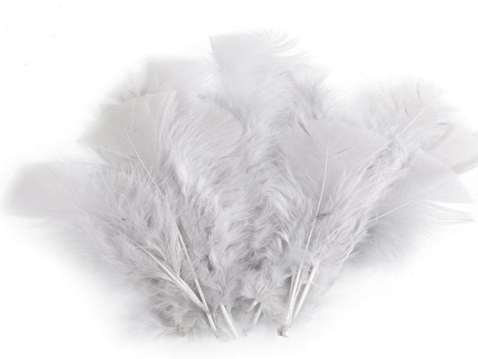 Krůtí peří světle šedé 11 - 17 cm