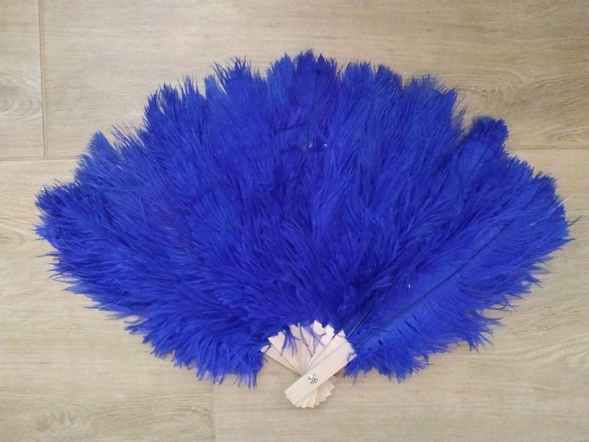 Vějíř pštrosí střední tmavě modrý