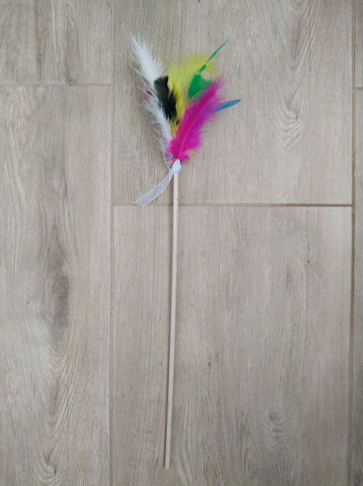 Péřová hračka pro kočky 50 cm