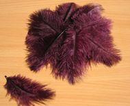 Pštrosí peří bordó 5 - 12 cm