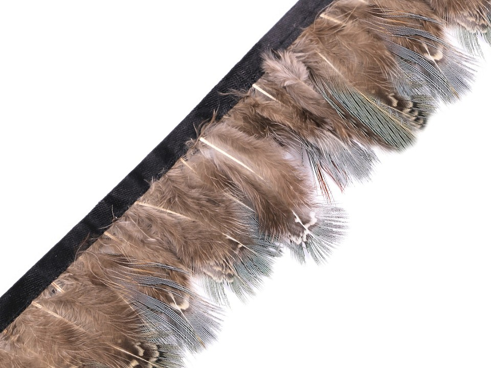 Prýmek - bažantí peří šíře 60 mm