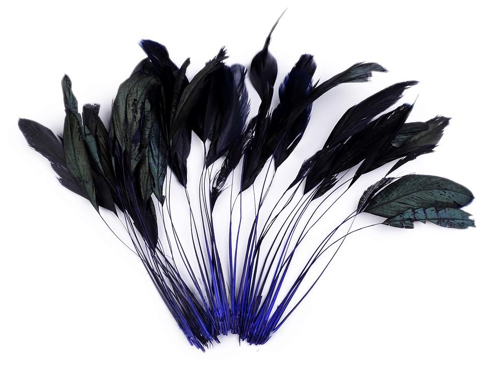Kohoutí peří modré 13-18 cm