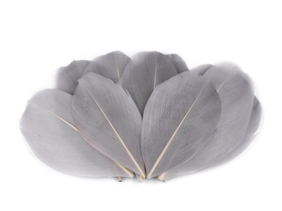 Husí peří šedá sv. 5,5-7 cm